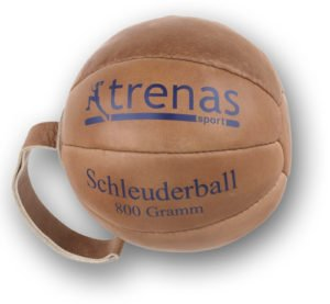 Original TRENAS Schleuderball aus Leder