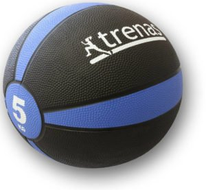 TRENAS Gummimedizinball PRO – Der professionelle Medizinball – 1 bis 5 KG